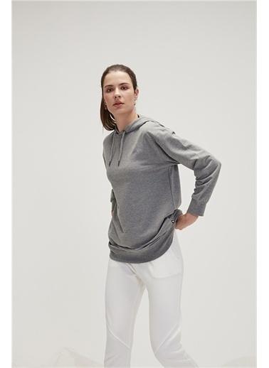 Bad Bear 20.04.12.009C19 Mono Color Hoodıe Uzun Kol Graymelange Kadın Kapüşonlu Sweatshirt Gri